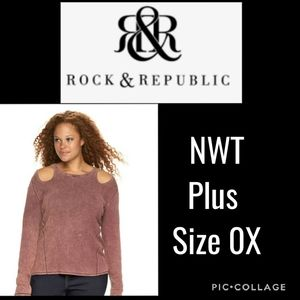 NWT Rock and Republic Cold Shoulder 0X
